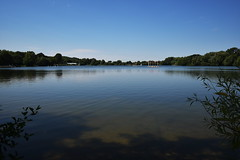 Tranquility (James Mans) Tags: d5500 nikon rickmansworth aquadrome water lake sky blue trees still calm tree park serene boat forest grass
