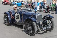 1934 Riley Nine Ulster Imp (StevePilbrow) Tags: classic car vintage driver 1934 riley nine ulster imp sports show flywheel festival raf bicester heritage centre june 2018 nikon d7200 nikkor 35mm 18