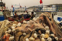 Balıkçılar (s_gulfidan) Tags: fishermen fishing net boat sea