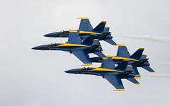 Blue Angels McDonnell Douglas FA-18 Hornet-1 (rickstratman26) Tags: dayton air show airshow airplane canon 7d2 7dii planes blue angels f18 jet