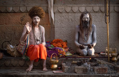 The Sadhu's Blessing (ludwigriml) Tags: amulet ascetic ascetism ash austerityl bangle beard benares blessing bodypaint bracelet buddism burial ceremonialobjects ceremony collar cremation dead dreadlocks fire funeral ganges greeting hinduism holy holycity india jainism kashi mala men monk necklace northindia pilgrim rasta rastahairstyle renounciation ritual river rowingboat sadhu spiritualpractice spirituality swami towers town uttarpradesh varanasibanaras water wristlet yogy city contemplation meditation ochre orange rowing