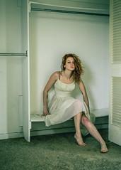 CLAIRE (Greyson Rose) Tags: model girl redhead female woman portrait white abandoned urbanexploration urbex deca closet