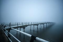Dry ice (adam_reynolds) Tags: fog mist ocean northsea north sea saltburn pier