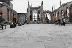 The Ruins of Coventry Cathedral, Coventry, UK (tosh123) Tags: coventry building ruins city arch cathedral turrets