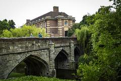 Eltham Palace (London Less Travelled) Tags: uk unitedkingdom england britain london southlondon eltham city urban park greenwich palace bridge entrance water