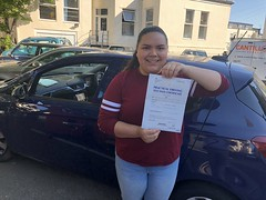 Massive congratulations to Andrea Alvarez passing her driving test on her first attempt!  www.leosdrivingschool.com