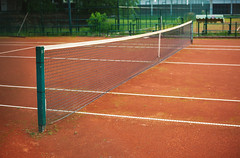 Tennis Yard Net And Terrain (dejankrsmanovic) Tags: tennis yard game play playground playful court sport empty nobody net half side line day terrain land ground outdoors lifestyle match object orange environment plate recreation recreational exercise concept