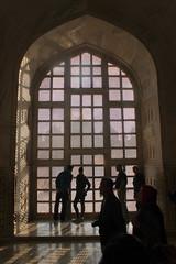 taj mahal silhouettes (kexi) Tags: agra india asia uttarpradesh tajmahal interior silhouettes people visitors tourists vertical old ancient mughal tomb canon february 2017 window arch shadows light geometry instantfave