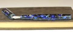 Black and Blue Custom Fountain Pen - Titanium Nib (BenjaminCookDesigns) Tags: fountainpen custom bespoke engraved personalised classic vintage artdeco style gift birthday christmas fpgeeks fpn giftforhim giftforher füllfederhalter