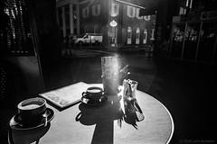 Manly Village 2018  #611 (lynnb's snaps) Tags: 2018 35mm apx100 cv21mmf4ltm leicaiiic xtol bw film leicafilmphotography cafe manlyvillage sydney australia agfaapx100 kodakxtoldeveloper blackandwhite contrejour lensflare coffee cups table street cv21mmf4colorskoparltm bianconegro bianconero blackwhite biancoenero blancoynegro noiretblanc schwarzweis monochrome ishootfilm ©copyright2018lynnburdekin shadows shadow ©copyrightlynnburdekinallrightsreserved