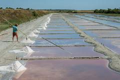 Harvesting Salt 2, Ile de Re (Peter Cook UK) Tags: 2018 france hut ile salt pan black brittany de re