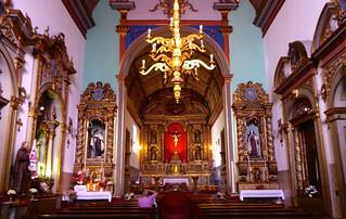 Blick in die Mutterkirche in Santana /Madeira