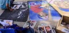Sidewalk Artist at Work (tvdflickr) Tags: georgia marietta mariettageorgia usa sidewalk artist art street chalk chalkart chalkartist baseball cards festival arts