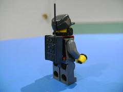 DSC00328 (TekBrick) Tags: custom ww2 lego geramn soldier radio headset war brick moc minifigure dark grey luger