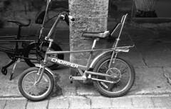 Chopper (Gabo Barreto) Tags: wetherby bicycle chopper bike film filmisnotdead ishootfilm olympus trip35 analoguephotography blackandwhite monochrome selfdeveloped scannedfromfilm 35mm kosmofotomono 135 iso100
