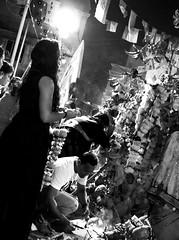 Prayers and offerings to a God we made. (magiceye) Tags: prayers offerings streetportrait monochrome streetphoto blackandwhite mumbai bnw