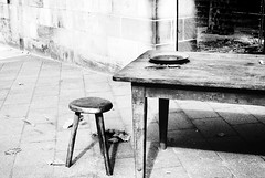 Table for one (foovler) Tags: lonely alone table chair one single plate spoon