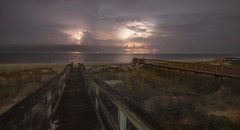 Storm Over the Ocean (ugadawg1864) Tags: storm lightning southcarolina pawleysisland ocean night clouds sky beach longexposure