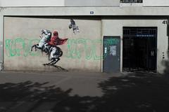 Banksy (lepublicnme) Tags: france paris june 2018 graffiti stencil streetart banksy napoleon