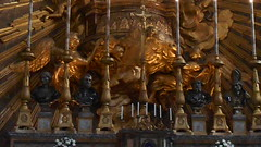 """""""Tabernacle with Angels"""" (1667) and """"Virgin Mary and Child"""", leaf and enamels 11th Century - Santa Maria in Campitelli Church in Rome (Carlo Raso) Tags: tabernacle angels virginmary child leaf enamels santamariaincampitellichurch rome"""