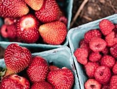 today (cathy sly) Tags: strawberries raspberries harvest inthegarden berries summerfruit