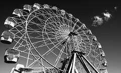 Luna Park - Sydney, NSW, Australia (StefanKleynhans) Tags: lunapark wheel blackandwhite blackwhite black white contrast nikon nikond800e nikon1635f4 sky clouds sydney nsw australia fun ferriswheel