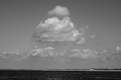 Coastal Clouds (pjpink) Tags: blackandwhite bw monochrome beach coast coastal eastcoast crystalcoast capelookout northcarolina nc carolina may 2018 spring pjpink 2catswithcameras clouds water atlantic