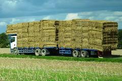 Lots of Hay near Stonehenge, England (Joseph Hollick) Tags: england stonehenge farm hay straw trailer