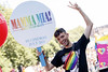 James Kavanagh pictured on the Mamma Mia! Here We Go Again float at this year's Dublin Pride Parade, Saturday June 30th. Picture Andres Poveda