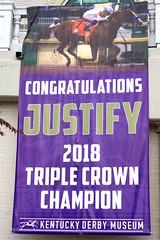 Justify - Triple Crown Winner (SeeMidTN.com (aka Brent)) Tags: justify triplecrown churchilldowns kentuckyderby museum banner congratulations 2018 louisville ky kentucky bmok bmok2