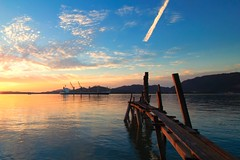 IMG_2316 ~ wajah senja (alongbc) Tags: sundown dusk cloud jetty ship lumut perak malaysia travel waterfront place trip canon eos700d canoneos700d canonlens 10mm18mm wideangle