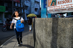 Blue Backpack (Meljoe San Diego) Tags: meljoesandiego ricoh grd4 grdiv streetphotography street light candid color philippines