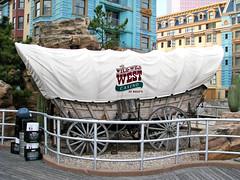 The Wild Wild West Casino (Multielvi) Tags: atlantic city new jersey nj shore boardwalk covered wagon sign ballys casino