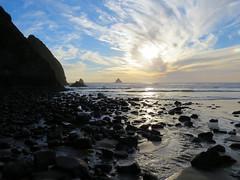 Arch Cape Sunset (altfelix11) Tags: oregon archcape clatsopcounty beach sunset sky clouds ocean pacificocean castlerock