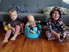 Paul, Eliza, Sam (quinn.anya) Tags: paul eliza sam preschooler toddler baby bumbo siblings