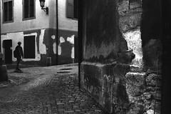 Attention ! Bumpy way (Leica M6) (stefankamert) Tags: stefankamert street film analog grain bumpy way people skater old town rottweil stains noir noiretblanc blackandwhite blackwhite leica leicam6 m6 rollei retro 400s summitar rangefinder cobblestones