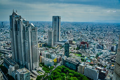 City view from Tokyo Metropolitan Government Building Tower - Tokyo Japan (mbell1975) Tags: shinjukuku tōkyōto japan jp city view from tokyo metropolitan government building tower asia towers turm office buildings aerial