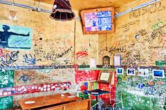 Budapest: Szimpla Kert graffiti room (ARKNTINA) Tags: budapest budapesthungary hungary hun18 europe eur18 random6 city building architecture urban szimplakert szimplakertruinpub simplegardenruinpub simplegarden pub bar ruinpub graffiti