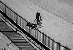 Bicycle shadow (MortenTellefsen) Tags: bicycle shadow bw blackandwhite bergen blackandwhiteonly bnw monochrome street streetphoto streetview gatefoto sykkel skygge norway norwegian