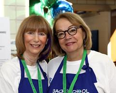 JCRC/AJC Board Member Sandi Matz, with her NCJW Co-President Jennifer LoPatin