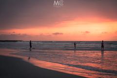 Last bath of the day (Mariano Colombotto) Tags: bocagrande cartagenadeindias cartagena colombia sunset beach atardecer playa sea mar tones colours water ngc people dusk ocaso sky cielo