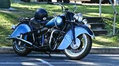 Old School cool (*SIN CITY*) Tags: indian motorcycle cycle cool blue twowheels australia backtobrunswick transport vehicle kool harley bike parked america american wheel wheels motor chopper