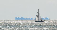 Yacht and silhouette (philbarnes4) Tags: yacht ship silhouette broadstairs thanet kent england philbarnes nikond5500 seascape sailing horizon