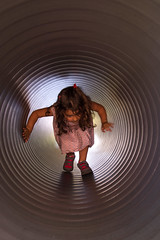 The end of the tunnel isn't far (Dan Guimberteau) Tags: lightroom child children tube tunnel game corrze limousin dxo photolab