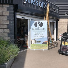 All set for a great tasting day - loads to try and some excellent ideas for your BBQ - we are at Pynes of Somerset in Bridgwater #rugeronis #bbq #sauces www.rugeronis.com (Rugeronis - Simply Amazing Flavours) Tags: rugeronis bbq asado meat recipes food relish pasta argentina parrilla grill