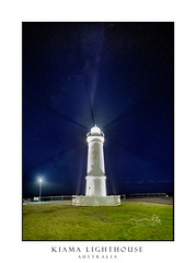 Lighthouse to guide the ships by night (sugarbellaleah) Tags: kiama lighthouse night stars starry sky protection ships safety beacon light bright architecture guidance marine boats blinking australia building infrastructure seascape