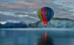 Newsletter 177! (Stuck in Customs) Tags: arrowtown newzealand treyratcliff stuckincustoms stuckincustomscom balloon hot air lake mountain clouds fog mist newsletter photography luminar plotagraph