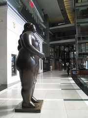 Tall Lady Woman Sculpture by Botero 2018 NYC 3607 (Brechtbug) Tags: woman sculpture by fernando botero colombian artist metal bronze nude female art sculptures front glassed lobby time warner building columbus circle thinker thinking wings nudes architecture statues statue gargoyle gargoyles new york city broadway store shopping center mall heavy zaftig puffy hefty big boned sturdy tall 2018 nyc 06152018 lady