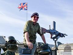 Vintage Village (littlestschnauzer) Tags: gun gunner tank cosford air show vintage village soldier exhibit static raf uk june 2018 100 raf100