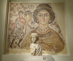 Byzantine Fresco & Bust (battyward) Tags: met themet byzantine fresco art heavenly creatures catholic imagination museum